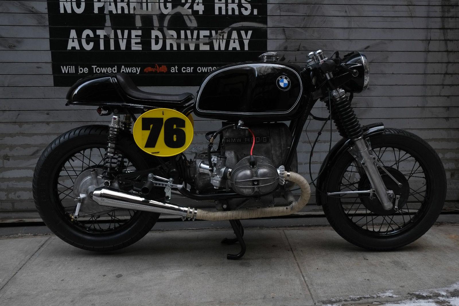 worth motorcycles build 1976 bmw r60 6 cafe racer bike urious. Black Bedroom Furniture Sets. Home Design Ideas