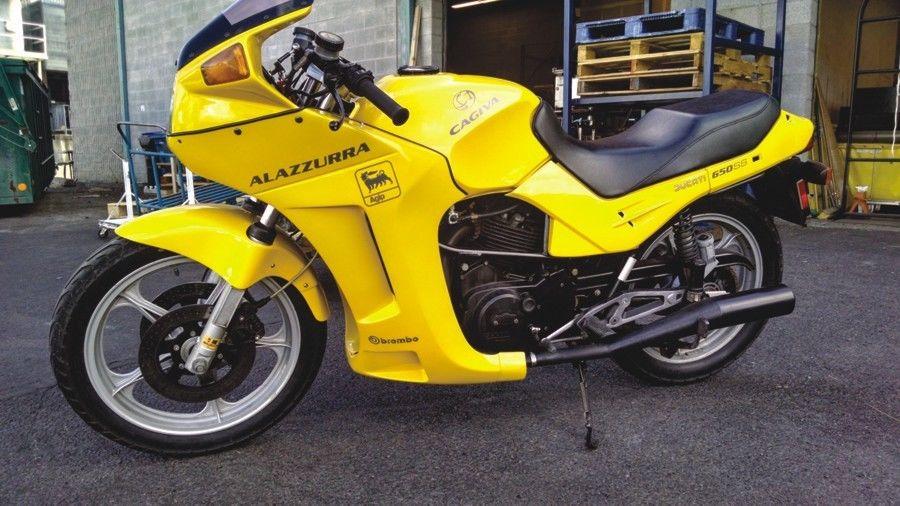 Alazzurra 650 ss Cagiva 650 Alazzurra Left