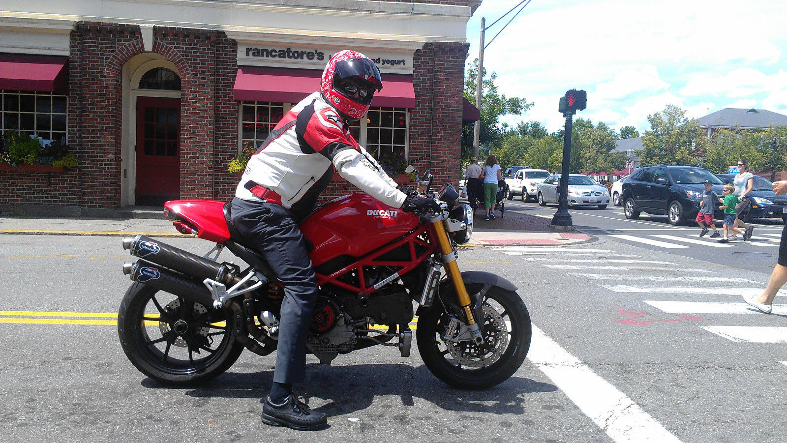 Ducati Monster S4rs Testastretta Right Side With Rider