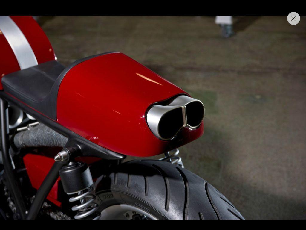 Honda Cb750 Cafe Racer Exhaust Bike Urious