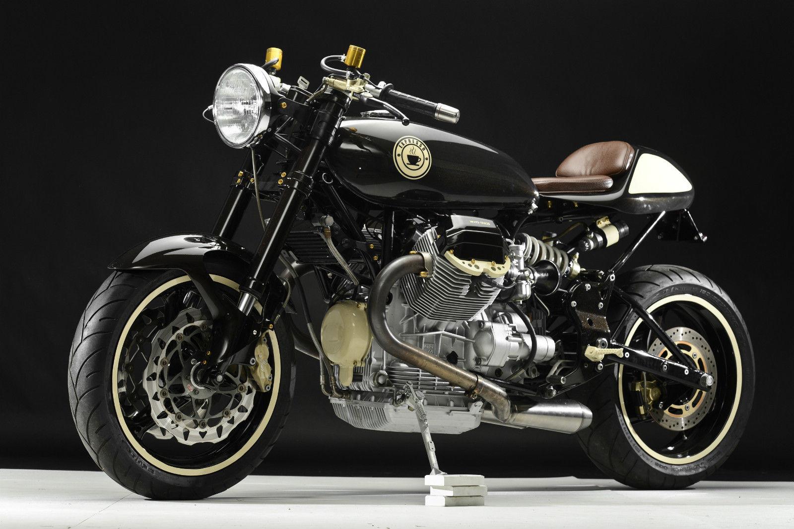 moto guzzi lemans cafe racer front left bike urious. Black Bedroom Furniture Sets. Home Design Ideas