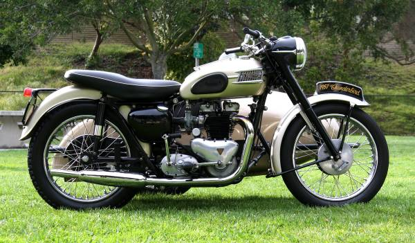 1957 triumph thunderbird sidecar   bike-urious